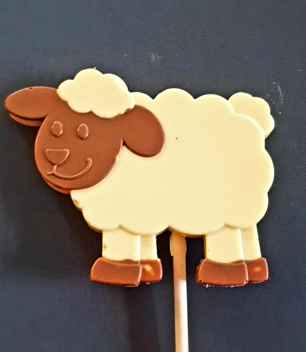 chocolate farm sheep