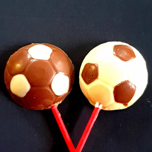 chocolate football lolly